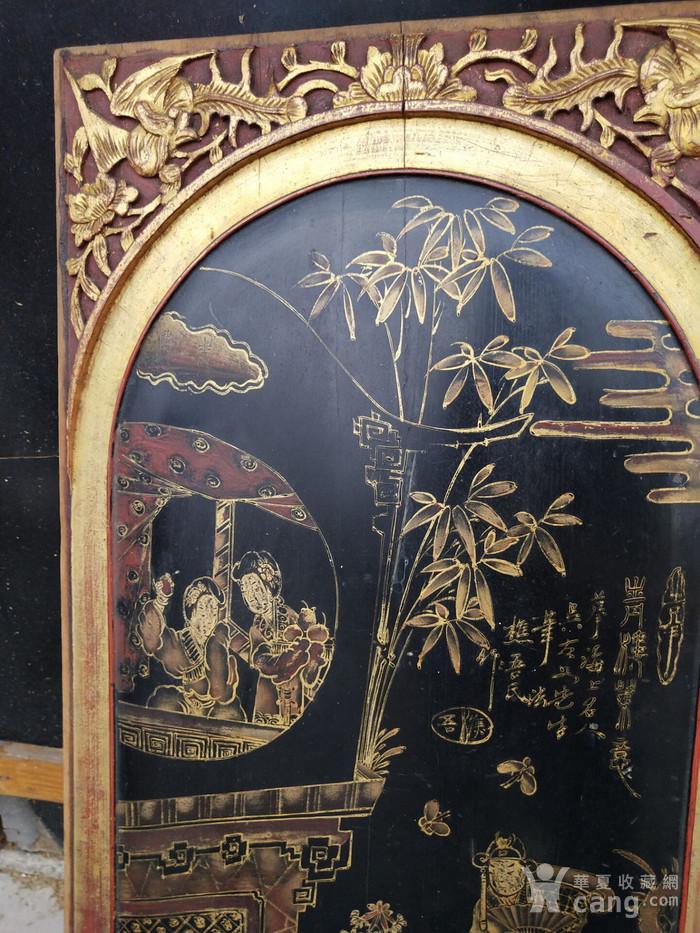 一对特别漂亮的镏金人物画板图8