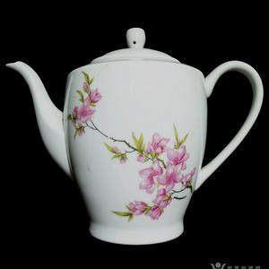 文革老茶壶!精美花卉纹!