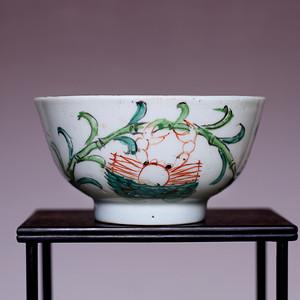 藏海淘 清粉彩花卉纹瓷碗 JZ391