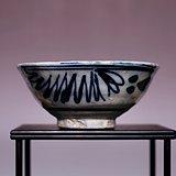 清青花花卉纹瓷碗 JZ320