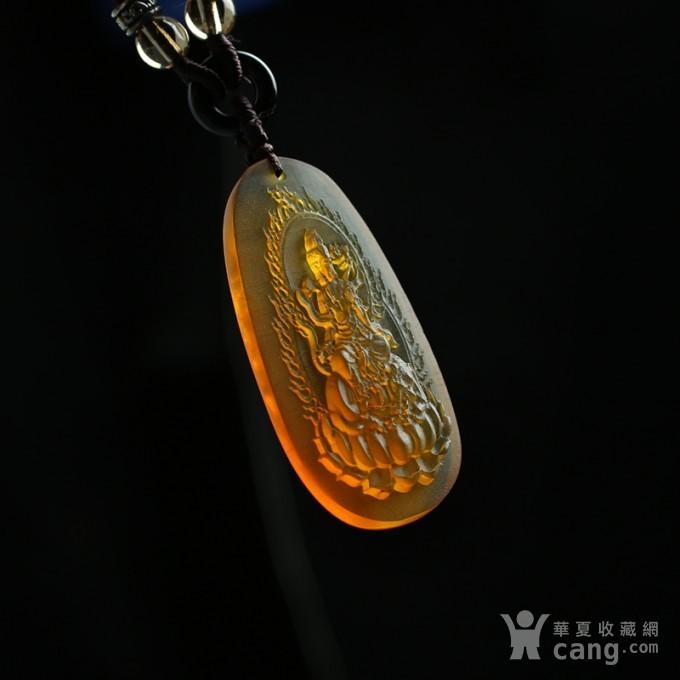金红缅甸琥珀普贤菩萨吊坠 80KM31图8