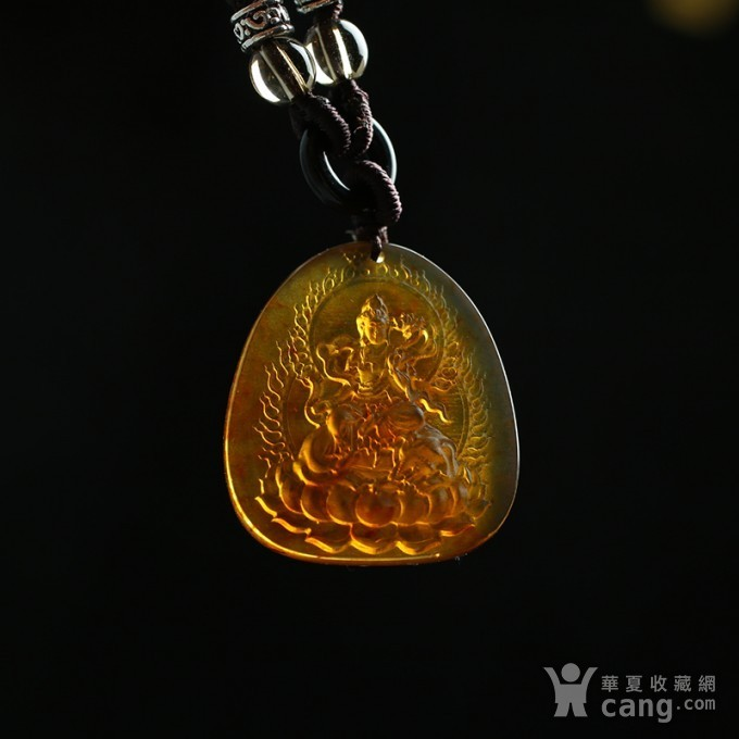 缅甸琥珀普贤菩萨吊坠 80KM32图8