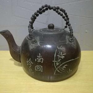 民国内锡壶外木制茶壶