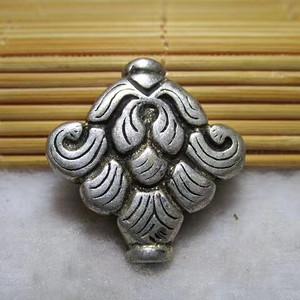 晚清时期 银质 精工铸造 富贵平安结纹 背鱼 做工精细