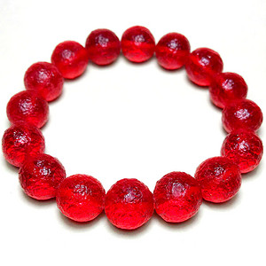 天外来物!红艳如血天然库尔勒血陨石原石完美满红陨石手串!