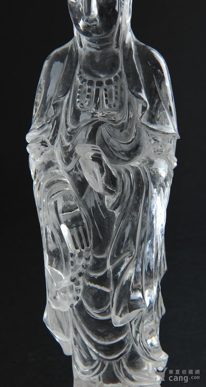 欧美回流 水晶观音立像图3