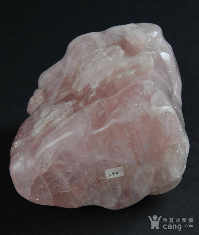 欧美回流 天然粉水晶随形雕笔筒图8