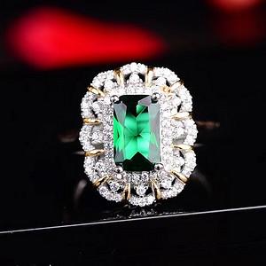 绿碧玺戒指