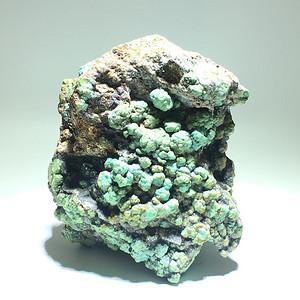 开门到代 清 正宗 原矿云盖寺绿松石 原石个头大 带罕见金质矿