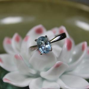 5580 精品彩宝 托帕石 925银活口戒指3