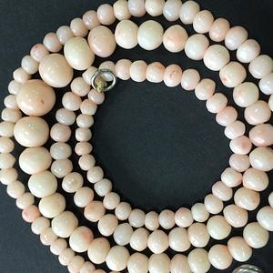 8001欧洲回流意大利粉珊瑚项链