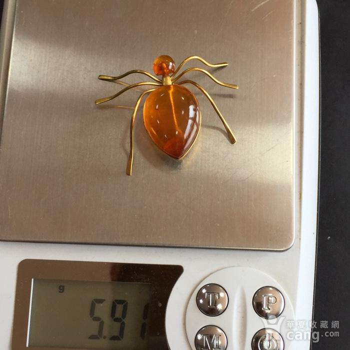 8009欧洲回流俄罗斯金工琥珀蜘蛛胸针图9