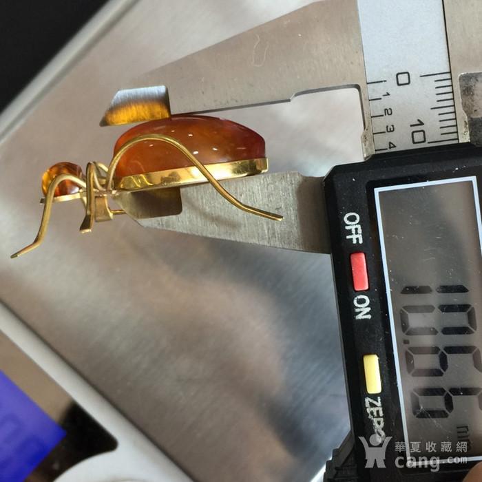 8009欧洲回流俄罗斯金工琥珀蜘蛛胸针图10