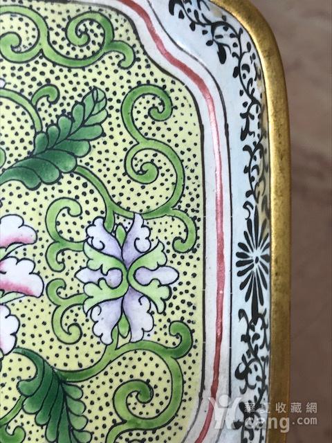7001 民国 铜胎画珐琅方碟图6