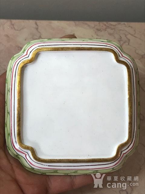7001 民国 铜胎画珐琅方碟图7