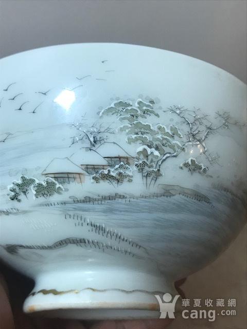 7005 民国 粉彩雪景大碗图5