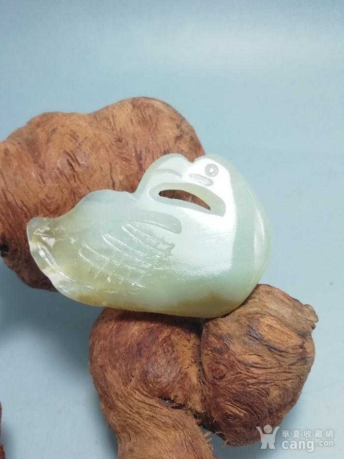 晚清和田籽玉 海中青挂件 包浆熟厚图1