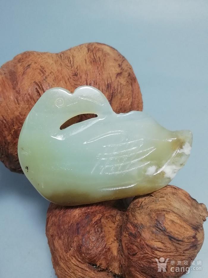 晚清和田籽玉 海中青挂件 包浆熟厚图6