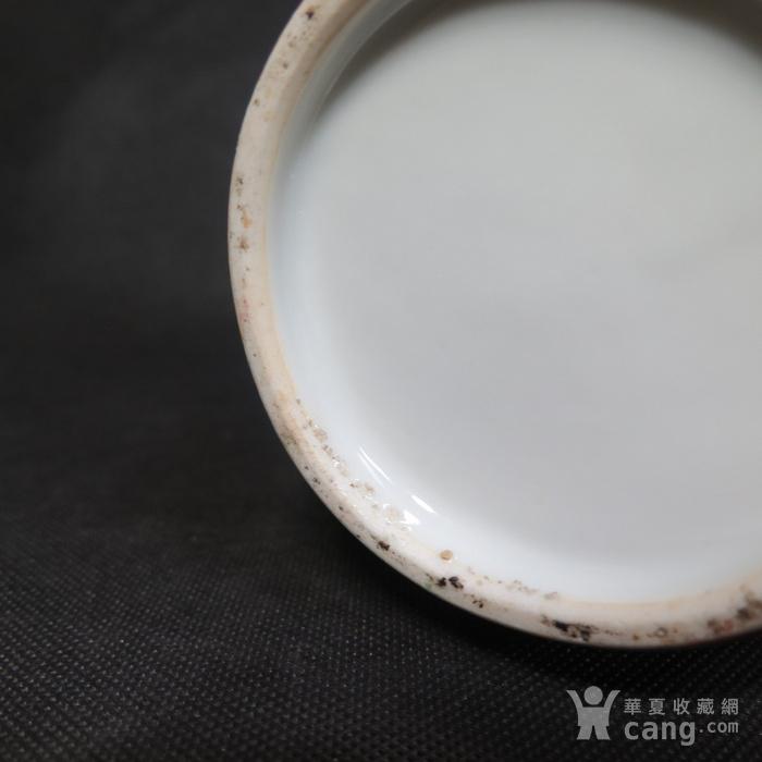 晚清广昌记红釉大罐图12
