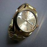 金牌 名表欧米茄全自动金色男士手表
