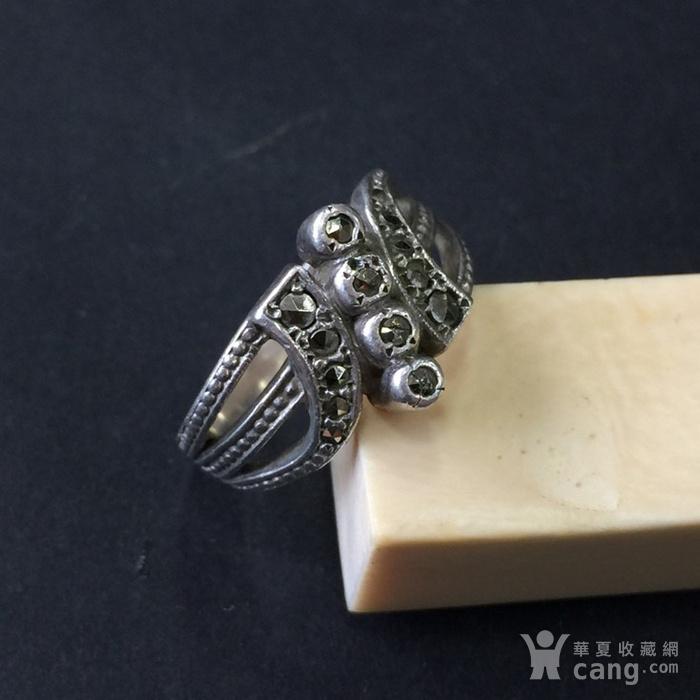 8045欧洲回流银嵌铁矿石戒指图7