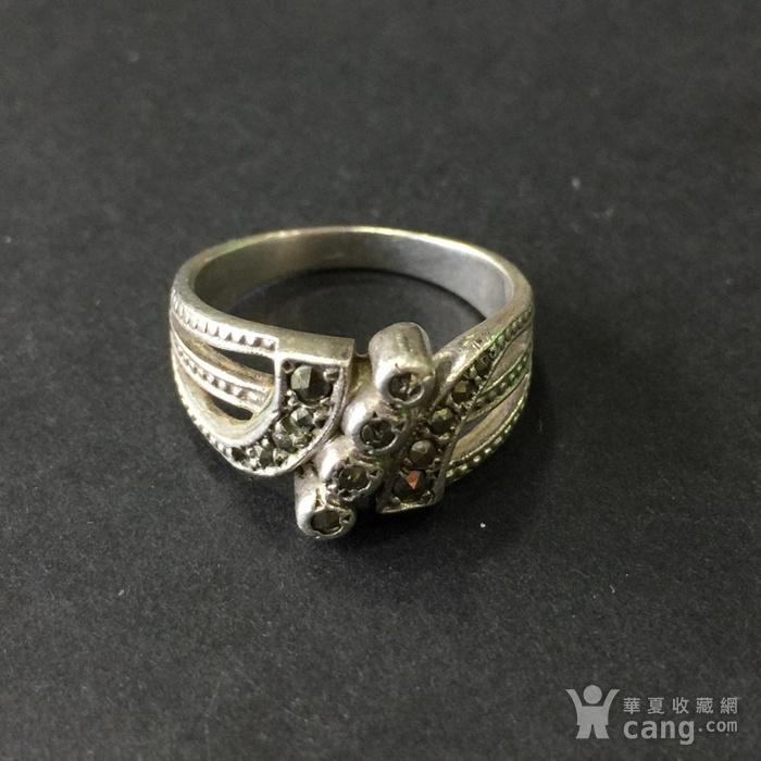 8045欧洲回流银嵌铁矿石戒指图8