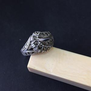 8048欧洲回流银嵌铁矿石戒指