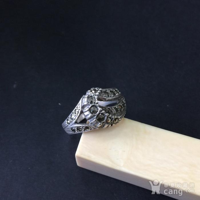 8048欧洲回流银嵌铁矿石戒指图2