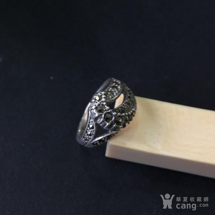8048欧洲回流银嵌铁矿石戒指图3