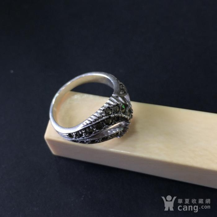 8048欧洲回流银嵌铁矿石戒指图4