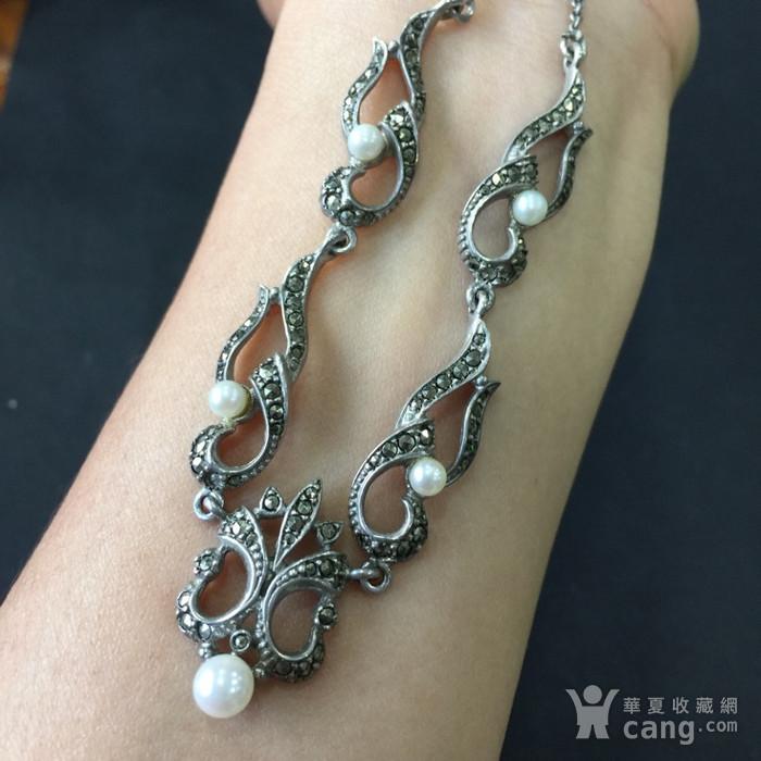 8050欧洲回流银嵌珍珠铁矿石礼服链图5