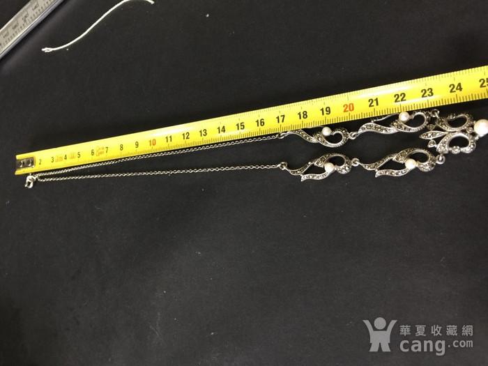 8050欧洲回流银嵌珍珠铁矿石礼服链图9
