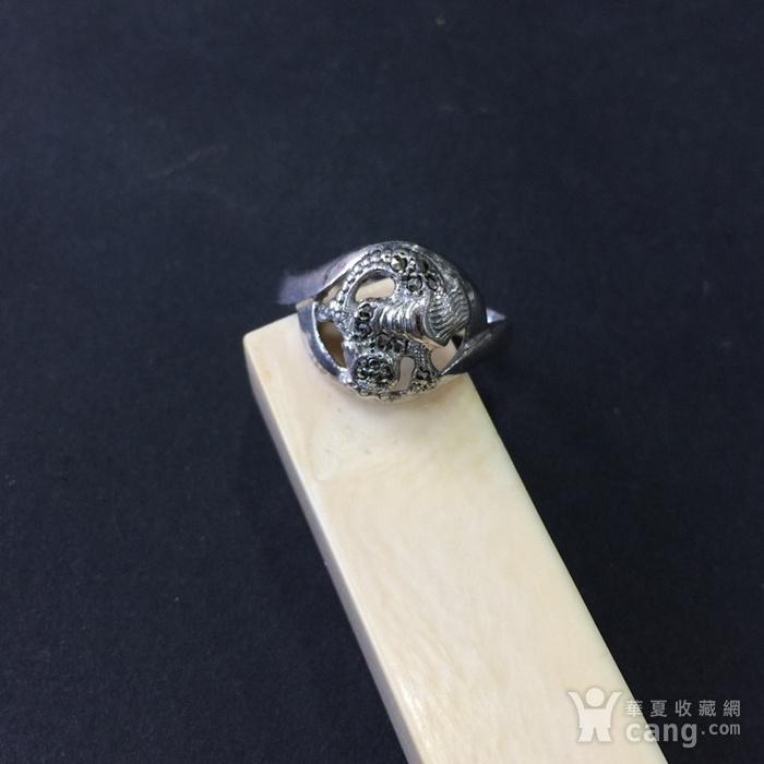 8055欧洲回流银嵌铁矿石戒指图2