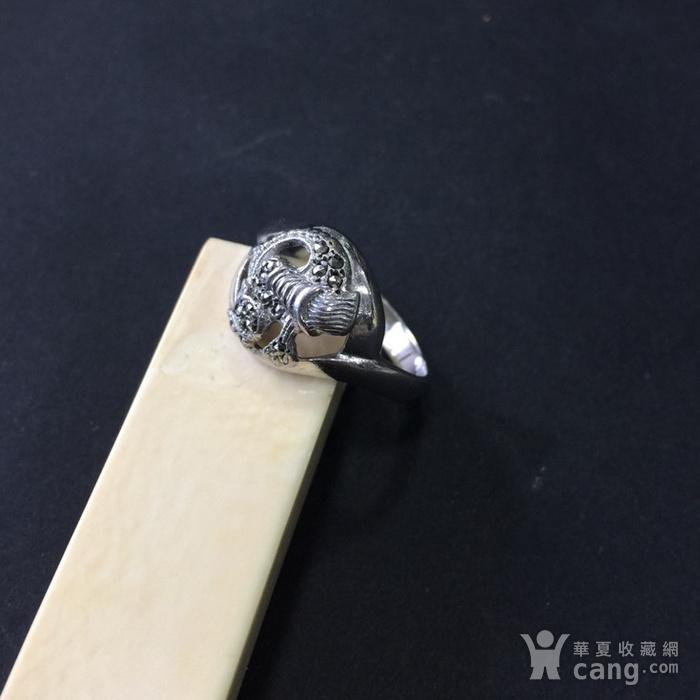 8055欧洲回流银嵌铁矿石戒指图3