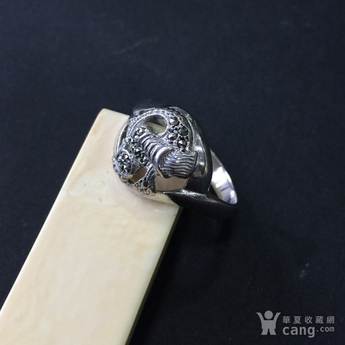 8055欧洲回流银嵌铁矿石戒指图4