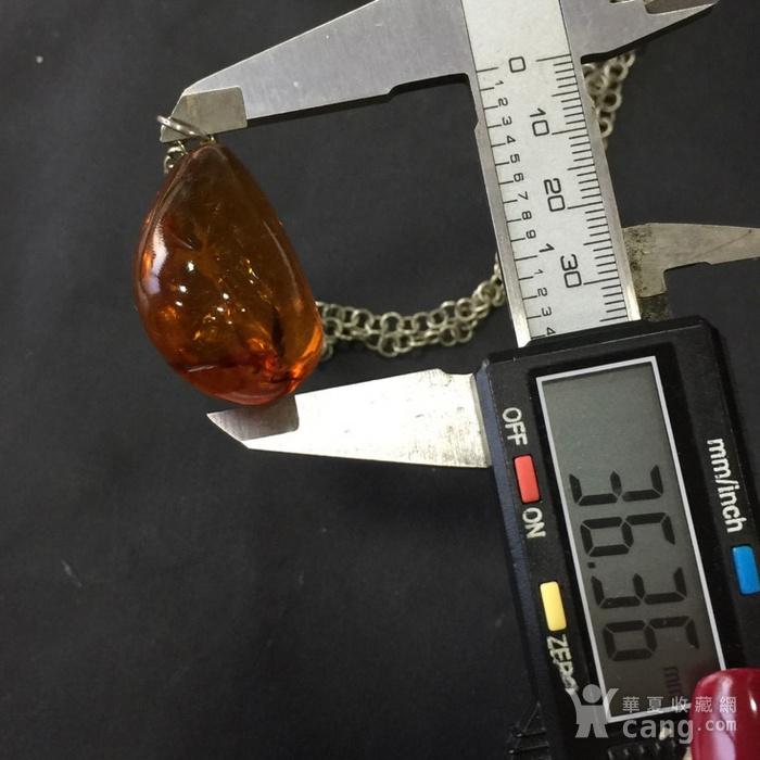 8059欧洲回流带皮原矿琥珀毛衣项链坠子图11