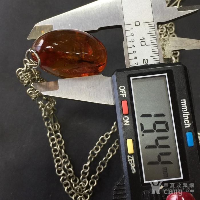 8059欧洲回流带皮原矿琥珀毛衣项链坠子图12