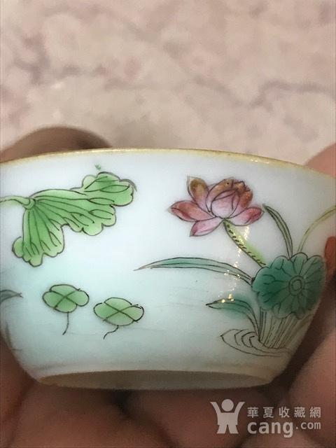 7008 清 粉彩鸳鸯压手杯图5