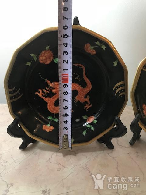 7009 欧洲手绘龙纹圆盘一对图8