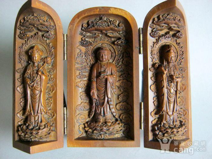 随身佛龛保平安 黄杨木雕观音佛图1