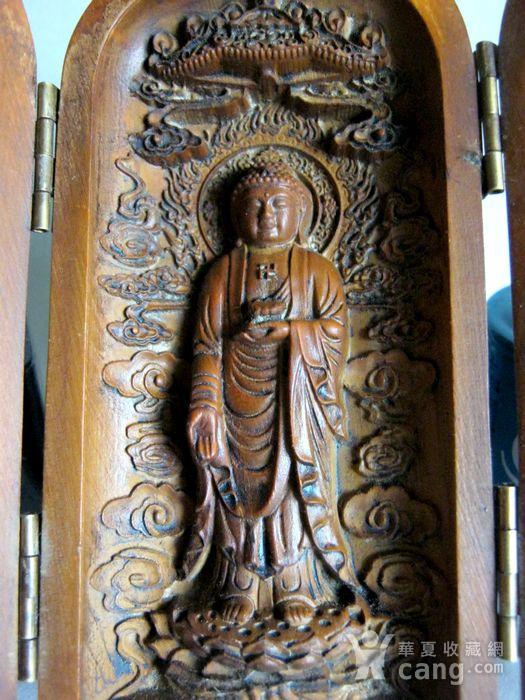 随身佛龛保平安 黄杨木雕观音佛图4