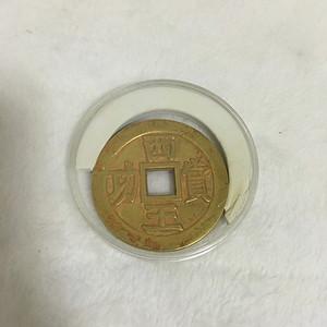 铜鎏金铜钱