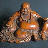 黄杨木雕财神