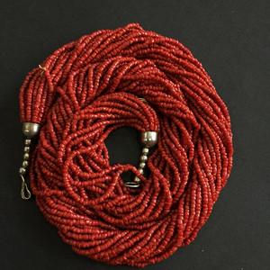 8070欧洲回流多股珊瑚随形毛衣项链