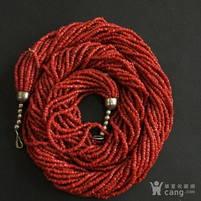 8070欧洲回流多股珊瑚随形毛衣项链图1
