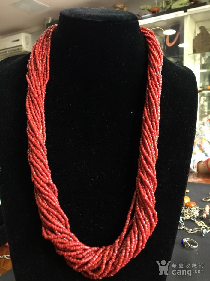 8070欧洲回流多股珊瑚随形毛衣项链图2