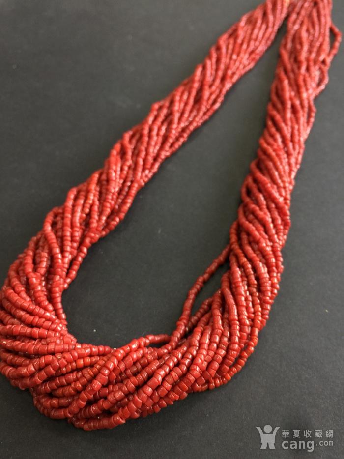 8070欧洲回流多股珊瑚随形毛衣项链图5