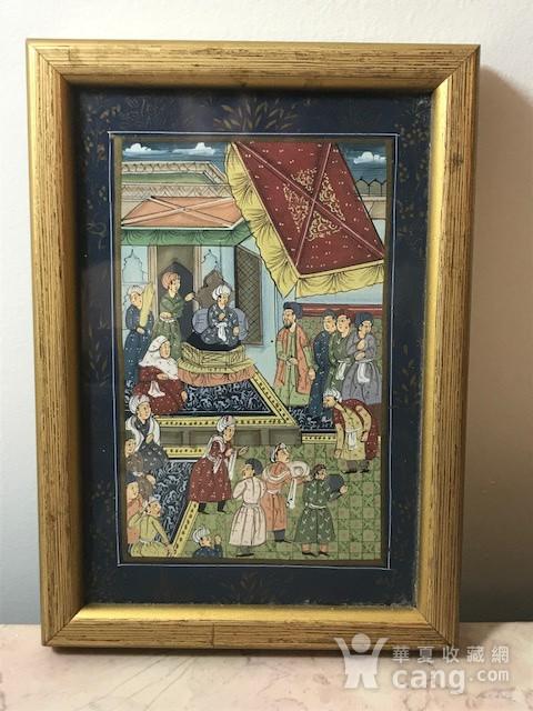 7023 印度十九世纪宫廷绘画图1