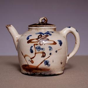 藏海淘 清老瓷壶一把   JZ344