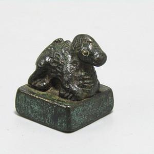 唐老铜 打造 羊钮私印 包浆厚重